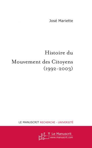 Histoire du Mouvement des Citoyens (1992-2003)