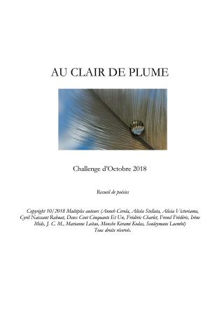 Au Clair de Plume - Challenge Octobre 2018