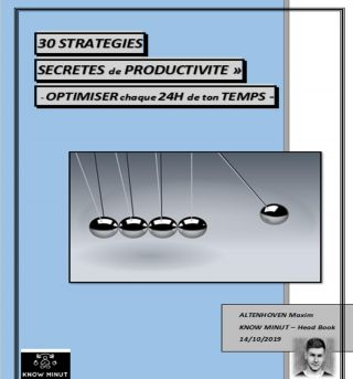 30 STRATEGIES DE PRODUCTIVITE